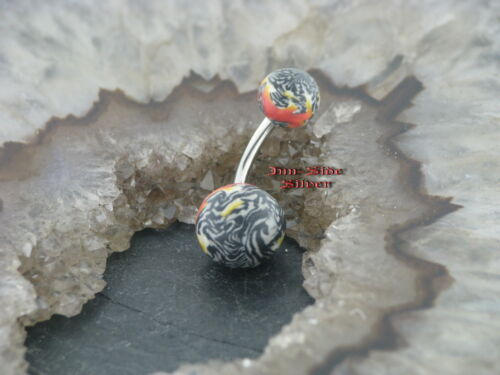 Bauchnabel Piercing  Pearl Kunststoff  SAMT Velvet Ball Marble Marmoriert