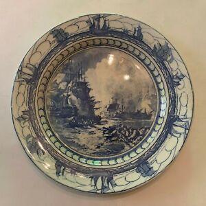 Vintage-Royal-Doulton-Battle-Of-The-Nile-Transferware-Plate