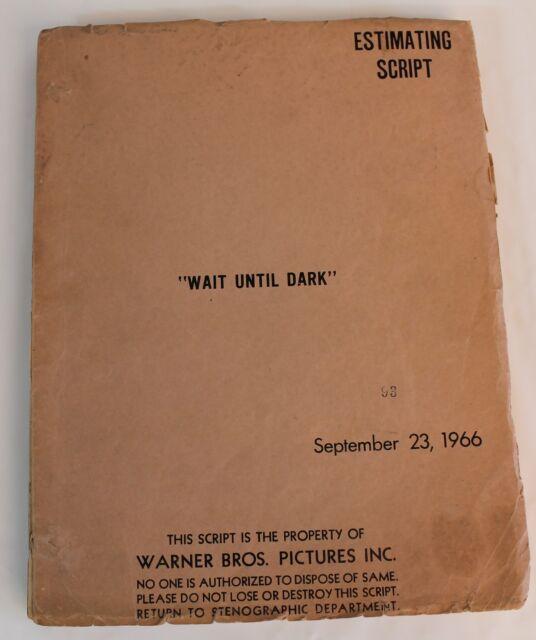 WAIT UNTIL DARK * 1966 Original Movie Script Screenplay * Audrey Hepburn, HORROR