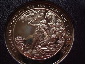 Thomason-MEDALLIC-BIBLE-11-ABRAHAM-OFFERING-ISAAC-FOR-SACRIFICE-Franklin-Mint
