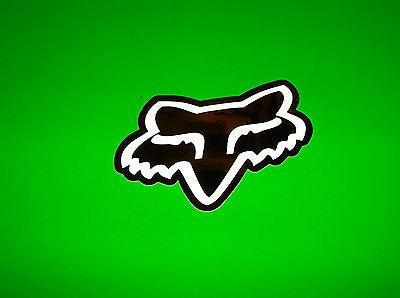 FOX RACING MOTOCROSS QUAD BMX SKATEBOARD BLACK /& WHITE FOX HEAD DECAL STICKER
