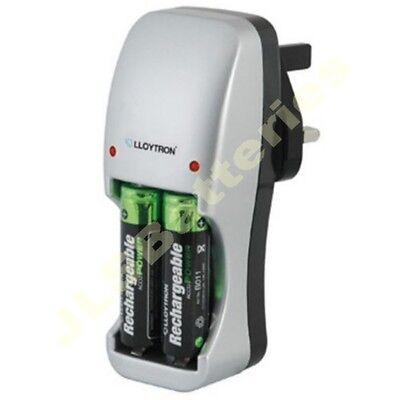 2 x AA 800 mAh rechargeable batteries + free Lloytron Battery Charger 800mAh