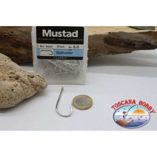 1box 25pz ami Mustad cod 92247 FC.B36A bait holder n.5//0