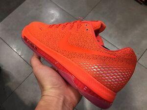 new concept 00624 5f1a1 Image is loading Nike-Air-Flywire-run-neon-orange-running-Flyknit-