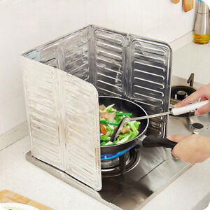 Home-Kitchen-Stove-Foil-Plate-Prevent-Oil-Splash-Cooking-Hot-Baffle-Kitchen-Tool