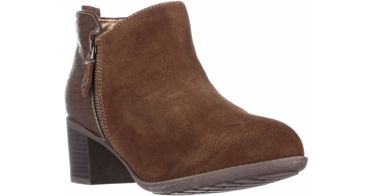 Sporto Ride Ankle Boot with Embossed Detail, New Tan, Size 8.5 M
