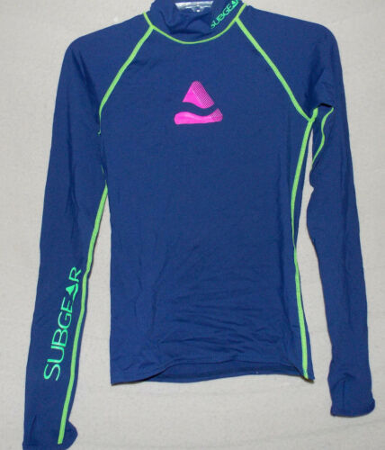 Women's RASH GUARD PARAISO From Subgear Blue Green & Pink Top Shirt Size Small