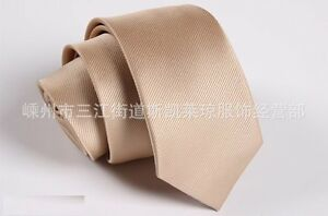 Men-039-s-Fashion-Khaki-Striped-Neck-Tie-Wedding-Necktie-Narrow-Slim-Skinny-SK610
