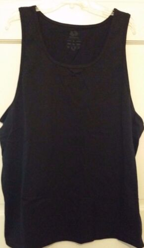 Mens Tank Tshirt Black Fruit of the Loom Scooped Neck Comfort Cotton NWT M L 2XL