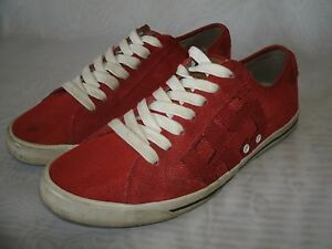 e7cc9a07c TOMMY HILFIGER RED SNEAKERS CANVAS RED SHOES / SIZE US 9 / EUR 42 ...