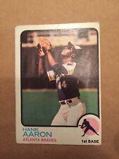1973 Topps Hank Aaron Atlanta Braves 100 Baseball Card
