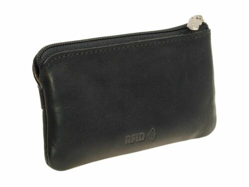 Schlüsseletui Tony Perotti Vegetale RFID Kartenschutz Schlüsseltasche Schwarz