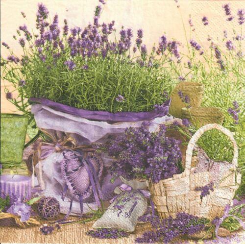 Lavender design.Perfect for decoupage-38 4 Single paper decoupage napkins