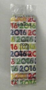 Hallmark-Wrapping-Paper-Tissue-2016-Birthday-Gift-Scrapbook-Crafts-Anniversary