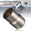 Tubo-connettore-marmitta-riduttore-adattatore-di-scarico-moto-da-60mm-a-51mm miniatura 1