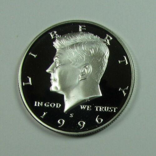 1996 SILVER PROOF KENNEDY HALF DOLLAR GEM CAMEO CONDITION