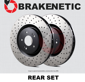 REAR SET BRAKENETIC PREMIUM Cross DRILLED Brake Disc Rotors BNP61039.CD