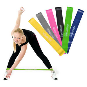 YOGA-RESISTANCE-BAND-LOOP-PILATES-STRAP-HOME-GYM-FITNESS-EXERCISE-WORKOUT