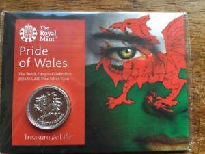 Pride Of Wales 2016 Dragon Gallois Uk £ 20 Fine Silver Coin Royal Comme Neuf-afficher Le Titre D'origine Jg9635iw-07233531-584361204