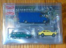 Busch HO #1603 (3 Pack)European Automobile Set -- One Each: Opel Kadett C, Volks