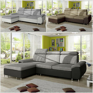 ecksofa zitta mit bettkasten und schlaffunktion farbauswahl eckcouch schlafsofa ebay. Black Bedroom Furniture Sets. Home Design Ideas