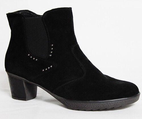 Bosque botas alfil hikila señora botines velourleder botas Bosque negro 542808-130-001 c6584e