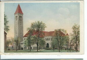 CI-256-NY-Ithaca-Library-Cornell-University-White-Border-Postcard-New-York