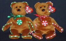 TY SPEARMINT & PEPPERMINT HALLMARK EXCLUSIVE BEANIE BABY SET - MINT w/ MINT TAGS