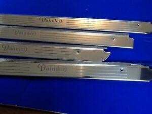 xj6 daimler xj6 swb stainless tread plates door sills kick panels etched logo