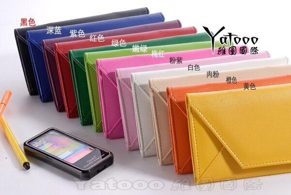 PU Envelope Purse Clutch Women's/Lady Leather Wallet Card Case Hand Shoulder Bag