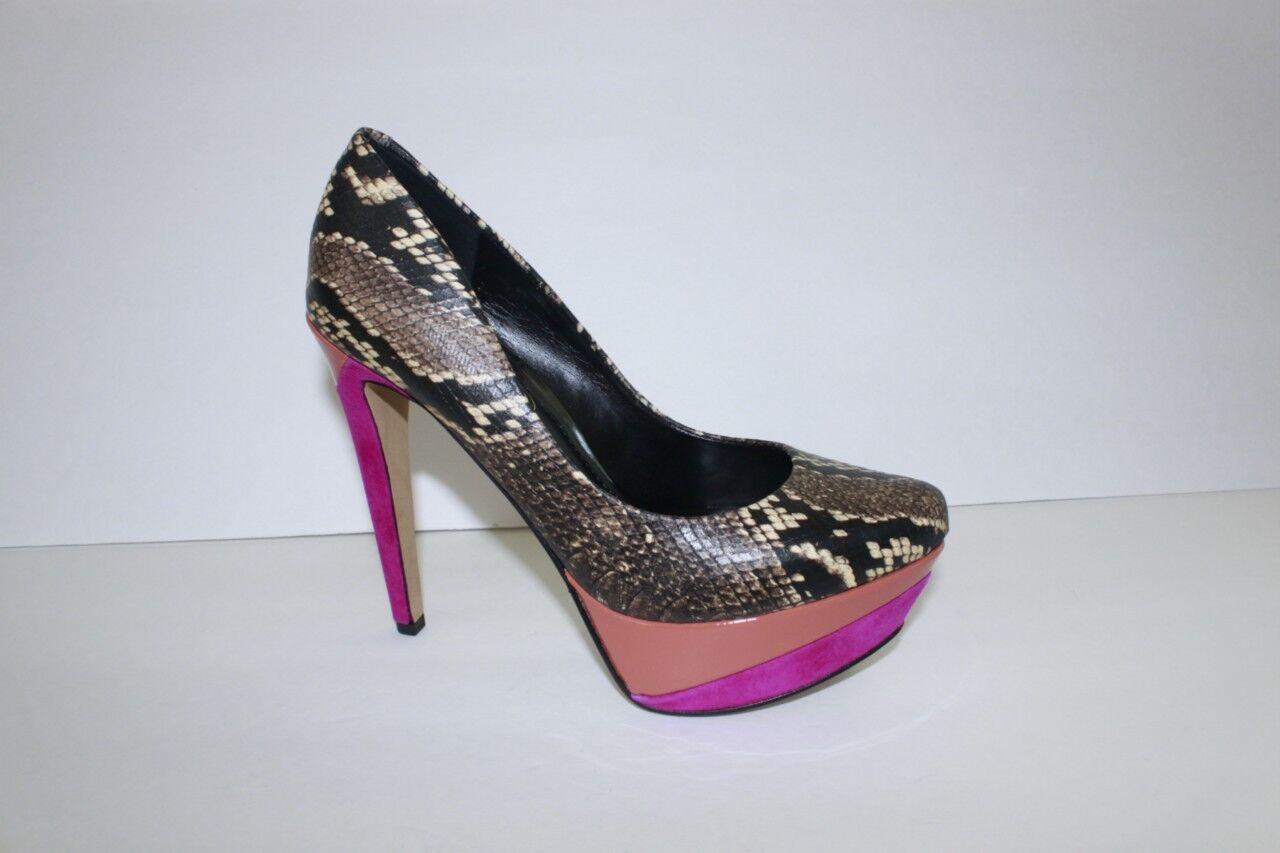 Jessica Simpson Donna Shoe Size Size Shoe 5.5 M Beijo Brown Snake Print High Heel Pumps 1bd53d