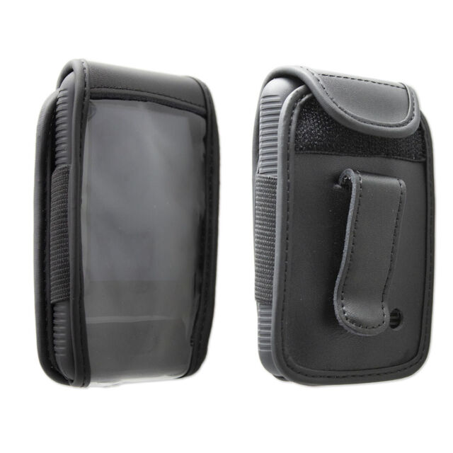 caseroxx Leather-Case with belt clip for Dexcom G6    in black made of real leat