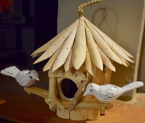 Handmade driftwood Bird house garden birdhouse carved Garden