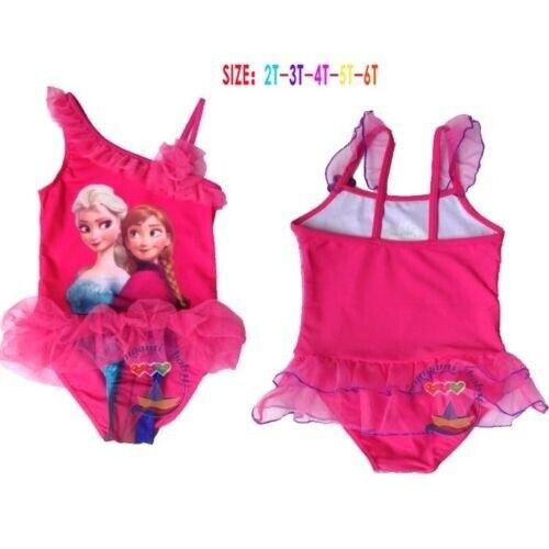 Frozen Mädchen BadeanzugSwim Suit Kinder dark  pink EU Seller 2//4 days shipping
