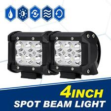 2X 4inch 288W CREE LED Work Light Bar 4WD Offroad Spot Fog ATV SUV Driving Lamp