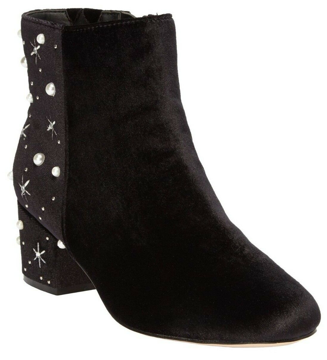 NEW- Comfortview Women's SIDNEY  WHITE PEARL  BOOTIES BLACK SIZE- 9.5 US