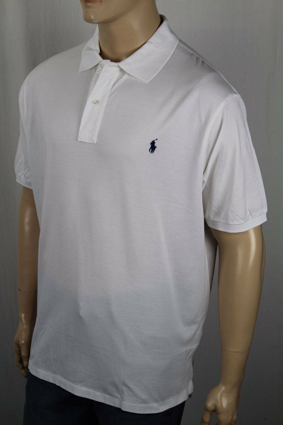 Polo Ralph Lauren White Classic Navy bluee Pony NWT