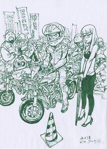 KIM JUNG GI MOTORCYLE RALLY ART