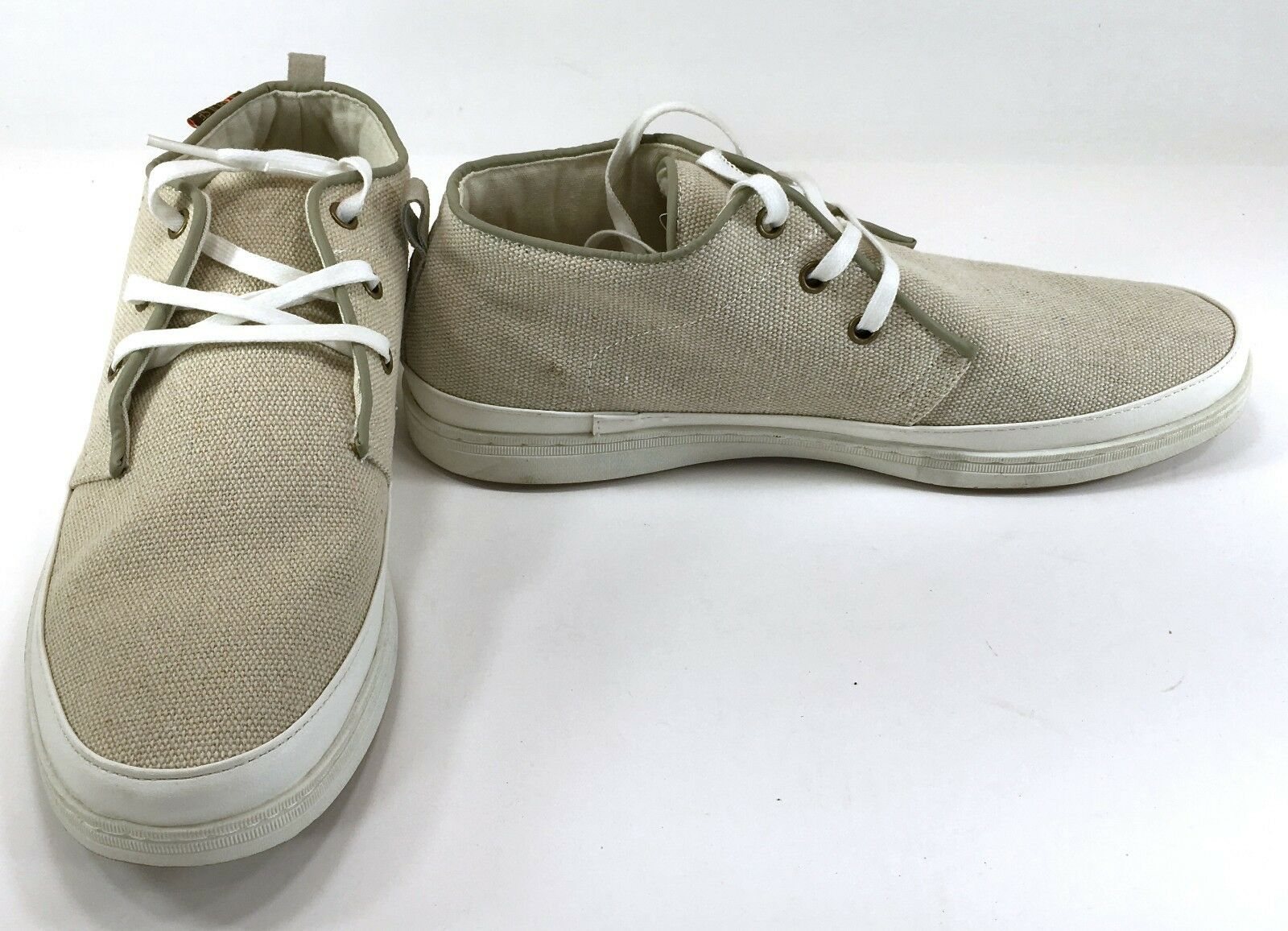 Impulse by Steeple Gate shoes Canvas Lo Athletic Tan Brown Sneakers Size 8.5