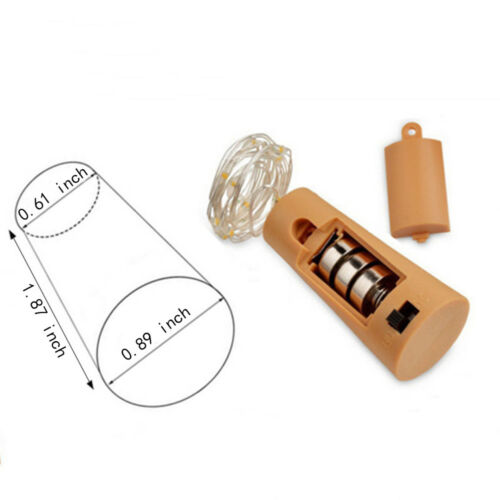 6Pcs 2M 20LED Copper Wire Wine Bottle Cork Micro Fairy String Lights Event Party