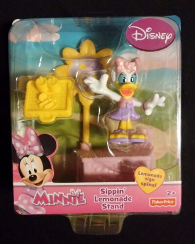 MINNIE MOUSE Daisy Duck Sippin Lemonade Stand Set w// Yellow Tray