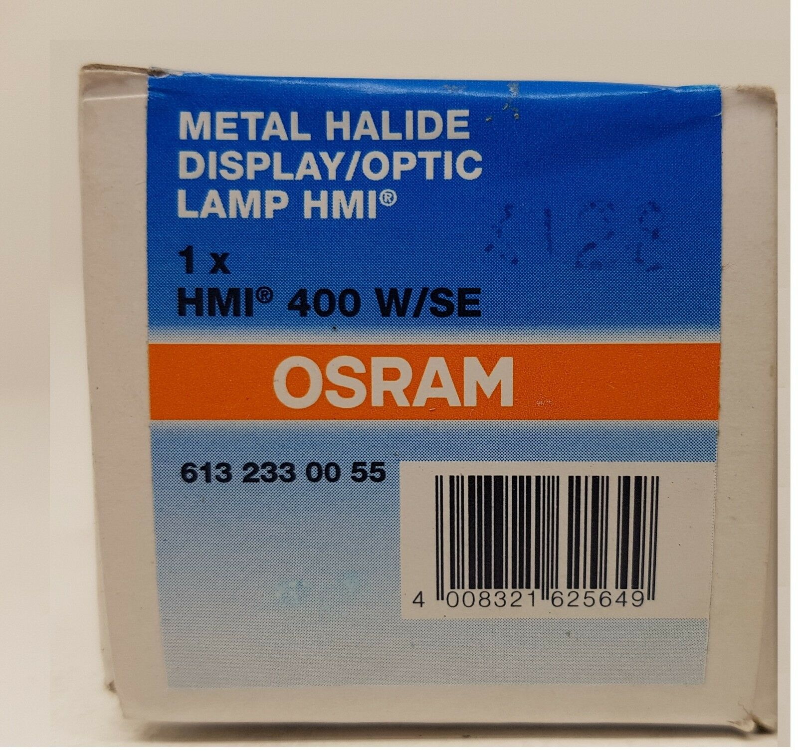 OSRAM HMI 400W SE metal halide display lamp 6000°K GZZ9.5 display halide optic f6da37