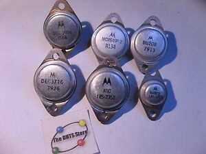 Lot-of-6-Assorted-Motorola-Branded-Power-Transistors-Used-Grab-Bag