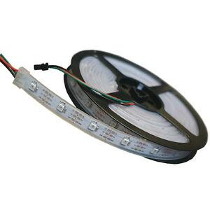 5m-WS2812B-5050-RGB-LED-Streifen-Strip-150-Leds-30-M-Weis-PCB-Addressable-5V-DC