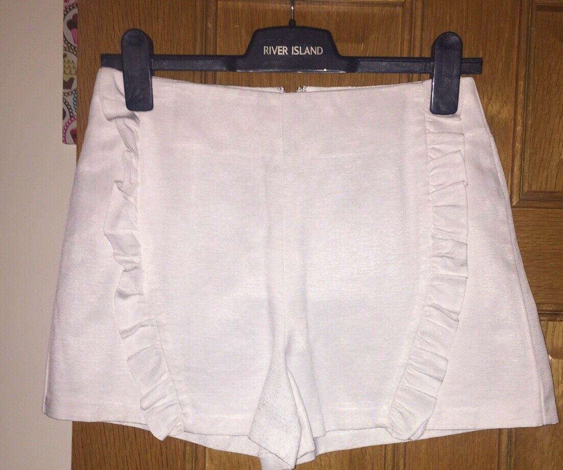 Ladies Topshop Shorts, Size 10, White