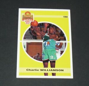 CHARLIE WILLIAMSON CHALONS EN CHAMPAGNE 1994 BASKETBALL FRANCE PANINI CARD
