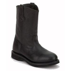 Rhino-98M33-Mens-Black-Leather-11-Inch-Boots