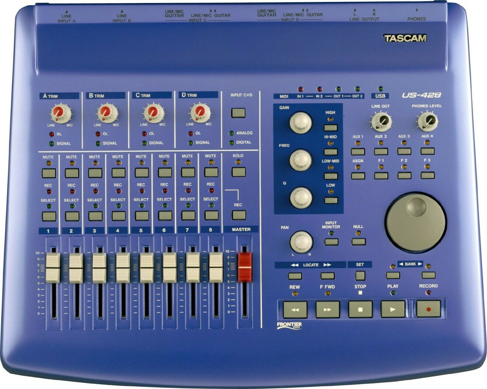 Tascam US-428 USB Digital Audio Workstation Controller Interface with PSU
