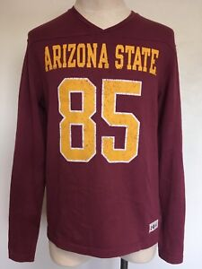 2015f37dc Under Armour Legacy ~ Arizona State  85 Football T Shirt~ Burgundy ...