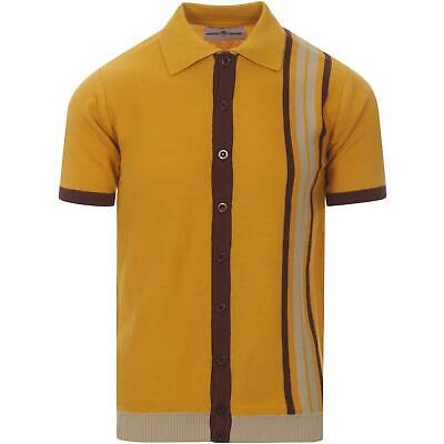 NEW MADCAP MENS 50s 60s 70s MOD BUTTON KNITTED POLO SHIRT CARDIGAN Kinetic MC482